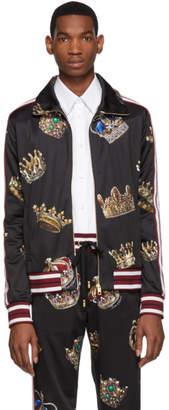 Dolce & Gabbana Multicolor Crown Zip-Up Track Jacket