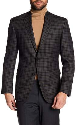 JB Britches Classic Fit Checkered Wool Sportcoat