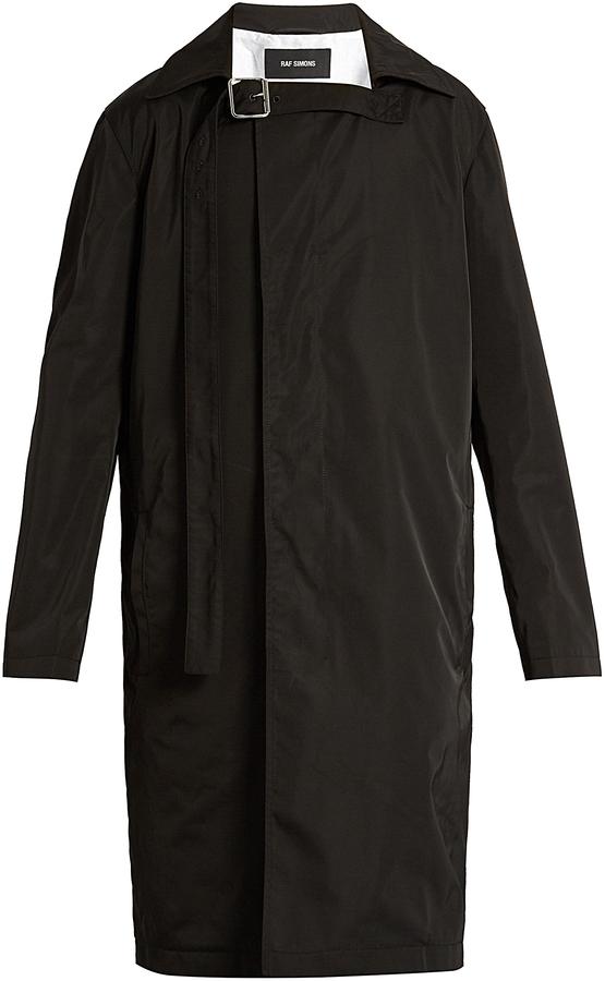 Raf SimonsRAF SIMONS Collar-strap single-breasted coat