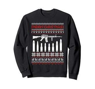 AR+ AR 15 Machine Gun Christmas Sweater Tee Sweatshirt