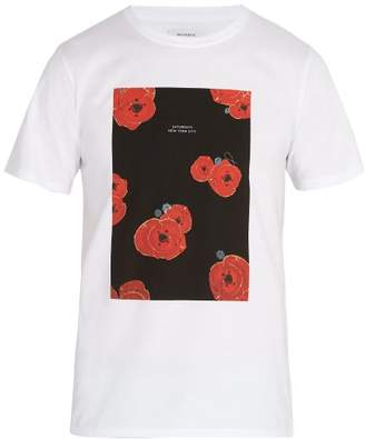 Saturdays NYC Floater Fill Cotton T Shirt - Mens - White