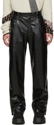 Kiko Kostadinov Black Leather Irene Trousers