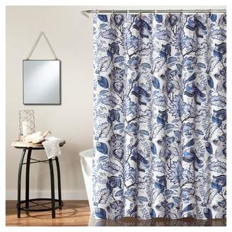 Lush Decor Cynthia Jacobean Shower Curtain Blue