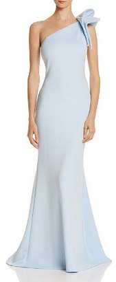 Aqua One-Shoulder Scuba Gown - 100% Exclusive