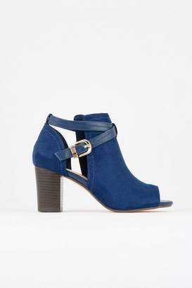 Wallis Navy Peep Toe Boot