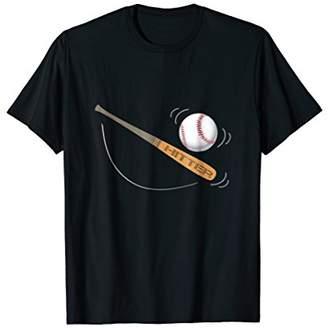 Hitter Baseball bat ball T shirt