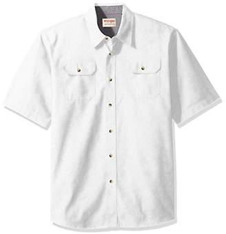 Wrangler Authentics Men's Short Sleeve Classic Twill Shirt