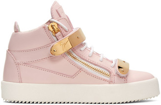 Giuseppe Zanotti SSENSE Exclusive Pink London High-Top Sneakers $995 thestylecure.com