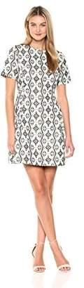 Savoir Faire Dresses Women's Short-Sleeve Jacquard A-Line Dress 2