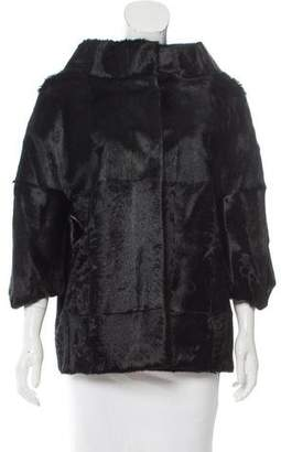 Marni Kid Fur Three-Quarter Sleeve Jacket