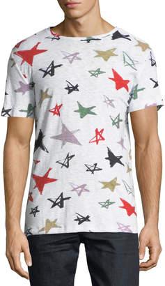 Antony Morato Men's Star-Print Slub T-Shirt