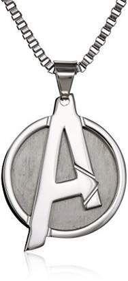 "Marvel Comics Unisex ""A"" Logo Avengers Stainless Steel Chain Pendant Necklace"