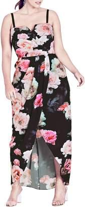City Chic Wonderland Floral Maxi Dress