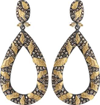 Yossi Harari Libra Cognac-Diamond Drop Earrings