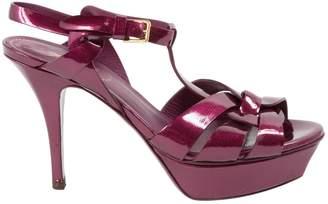 Saint Laurent Tribute Pink Patent leather Sandals