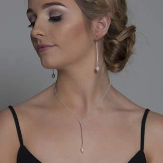 Lulu + Belle Bar Freshwater Pearl Pendant In Silver