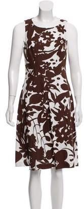 Michael Kors Linen Sheath Knee-Length Dress