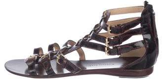 Giuseppe Zanotti Patent Leather Cage Sandals