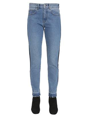 MSGM Regular Fit Two Colour Jeans