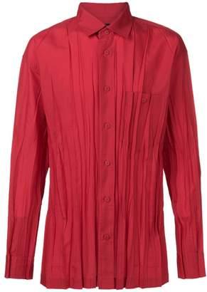 Issey Miyake ruched button shirt