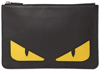 Fendi Monster Smooth Leather Pouch
