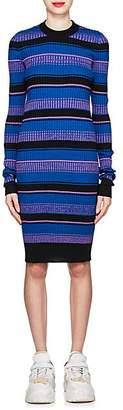 Maison Margiela Women's Striped Rib-Knit Wool-Blend Sweaterdress - Black