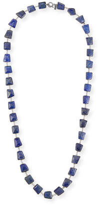 Lapis Margo Morrison Long Silver Station Necklace, 35""