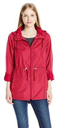 Celebrity Pink Junior's Packable Lightweight Parka in a Pocket