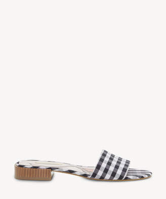 Louise et Cie Women's Aydia Open Toe Flats Gingham Size 6 Fabric From Sole Society