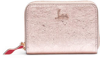 Christian Louboutin Panettone leather coin purse vintage rose gold