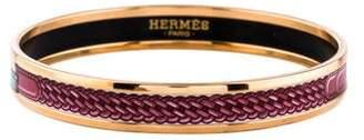 Hermes Narrow Enamel Bangle