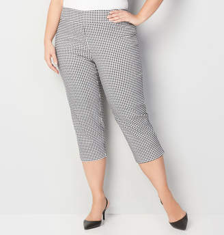 Avenue Gingham Super Stretch Pull-On Capri