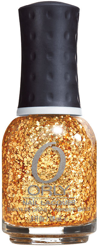 Orly Hyper-Reflective Glitter Nail Lacquer, ROCKETS RED GLARE 0.6 oz (18 ml)