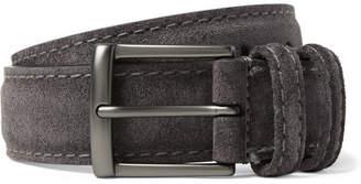 Andersons Anderson's 3.5cm Dark-Grey Suede Belt