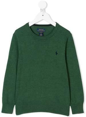 Ralph Lauren Kids embroidered logo sweater