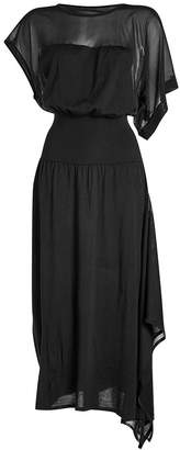 Paco Rabanne asymmetric dress with virgin wool