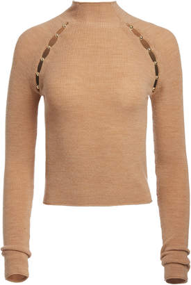 Alice + Olivia JENNIFER MOCK NECK PULLOVER