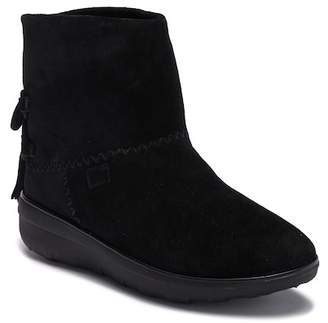 FitFlop Mukluk Suede & Genuine Shearling Shorty II Ankle Bootie