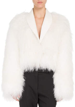 Haider Ackermann Shawl-Collar Shearling Fur Jacket