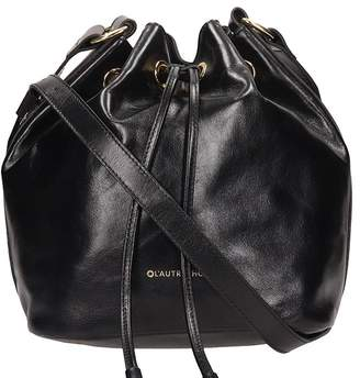 L'Autre Chose Lautre Chose LAutre Chose Black Leather Bucket Bag