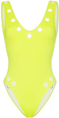 Solid & Striped Michelle eyelet detail swimsuit
