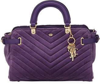 Juicy Couture Daydreamer II Quilted Velour Satchel Bag