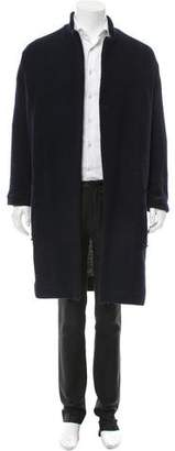 Harold Kensington Open Front Notch-Lapel Cardigan