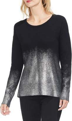 Vince Camuto Long Sleeve Foiled Ombre Sweater