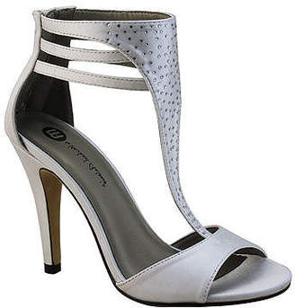 Michael Antonio Rhinestone-Studded T-Strap Pumps