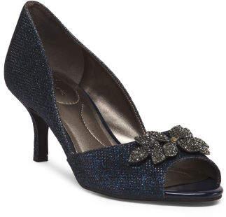 Embellished Peep Toe Heels