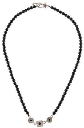 Robin Rotenier Onyx & Sapphire Bead Necklace