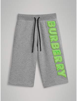 Burberry (バーバリー) - Burberry ロゴアップリケ コットン ドローコードショーツ
