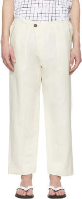 Off-White Jan Jan Van Essche Jan-Jan Van Essche Washi Twill Trousers