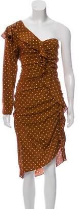 Veronica Beard Leona One-Shoulder Dress w/ Tags